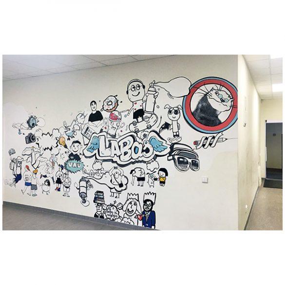 Sienos piešinys Kauno specialiojoje mokykloje
